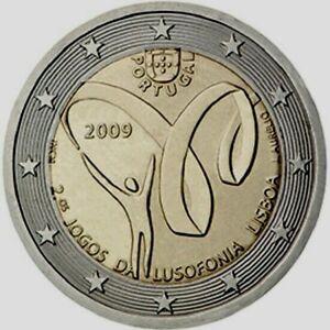 2 Euro PORTUGAL commémorative 2009 Deuxièmes Jeux de la Lusophonie