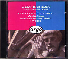 O CLAP YOUR HANDS Vaughan Williams Walton DAVID HILL CD Winchester Cathedral