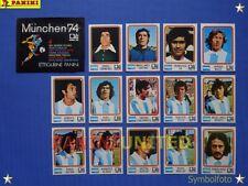 Panini★WM 1974 WorldCup WC 74★Team Argentinien komplett / Argentina complete set