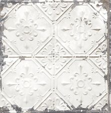 Tin Ceiling Look Wallpaper White/Gilver