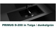 Schock PRIMUS D-200 Cristalit Granit Doppelbecken Einbauspüle Taiga/dunkel grün