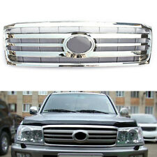 ABS Chrome Horizontal stripes Front Grille Grill For Toyota Land Cruiser 2006-07