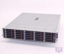 HP StorageWorks MSA70 SAS SAN w/25x 2.5 146GB Plastic Mount Clip missing w/Rails