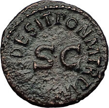 CLAUDIUS - Genuine 41AD Rome Food MODIUS Authentic Ancient Roman Coin i60662