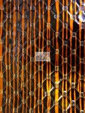 GLOSSY DIAMOND WICKED EMBOSSED VINYL FABRIC - Black/Orange Stripes - BY THE YARD