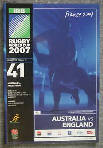 2007 Rugby World Cup Quarter-Final Match Programme, Australia v England
