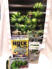 Variety Lot 2003 Vintage Incredible Hulk Model Kit Head Knockers Poster Tin Case