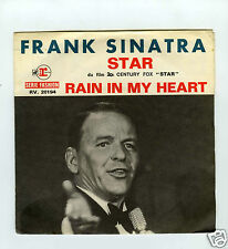 45 RPM SP FRANK SINATRA  STAR / RAIN IN MY HEART
