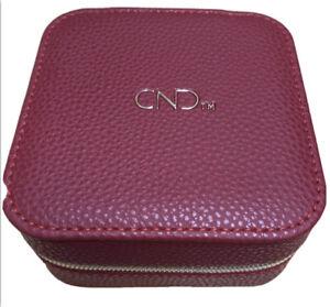CND Shellac Limited Edition Jewelry Case Jewlery Box Jewlery Bag Red Gold Zip