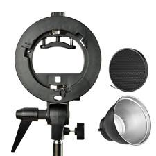 Pro Godox S-TYPE Bracket Bowens Mount Holder + 7 pouces Standard Réflecteur diffuse