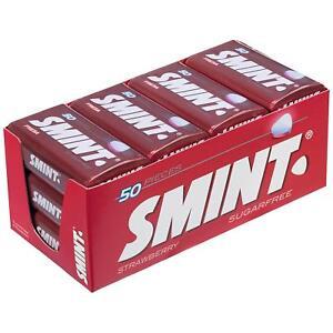 SMINT XXL STRAWBERRY SUGARFREE 50 PIECES X 12 PACKS