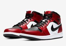 Nike Air Jordan 1 Retro Mid Chicago Black Red White 554724 069 Men's 8.5 9.5