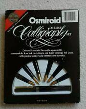 Osmiroid De Luxe Calligraphy Pen Set With 6 Nibs, Ink, Instructions.