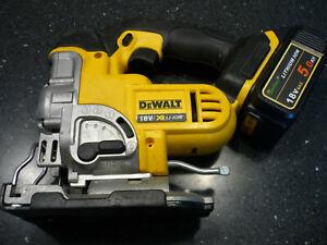 DeWalt DC5331 18v XR Li-Ion Battery Cordless Jigsaw & Good 5.0AH Generic Battery