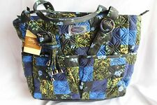 NEW DONNA SHARP MIDNIGHT SKY ELAINA TOTE BAG PURSE HANDBAG Blue Green Black