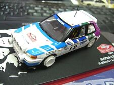 MAZDA 323 GTX Rallye Monte 1991 Mikkola Nightversion Nachtversion IXO RARE 1:43