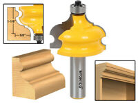 """1-1/8"""" Architectural Molding Router Bit - 1/2"""" Shank - Yonico 16127"""