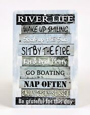 River Life Metal Sign   Home Decor   Housewarming Gift Outdoor Sign   River  Sign