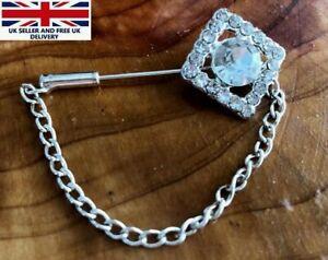 2 X Pin Brooch Diamante Scarf Saree Shawl Coat Hat Bridal Bouquet NEW