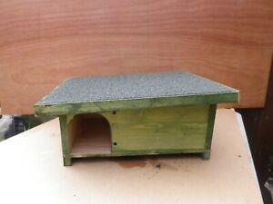 Hedgehog Hibernation house/Shelter Solid Wood handmade & Predator Proof  green
