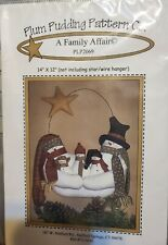 Plum Pudding Pattern Co - #PLP2069 A Family Affair ~ Snowmen family hanger  New