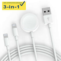 3-in-1 Magnetic Charger Charging USB Cable For Apple Watch iWatch Series 1/2/3/4