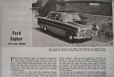 1960 Ford Zephyr Original Autocar magazine Road test