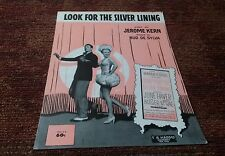 Look for the Silver Lining Jerome Kern June Haver Ray Bolger movie sheet music