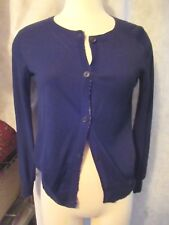 ALLSAINTS Cardigan Sweater Cotton front silk Back Ladies Small