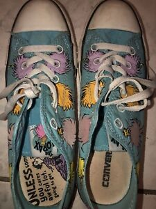 Converse The Lorax  8 women's. 6 Men's. 39eu.  Unisex. Gently worn. Dr. Seuss.