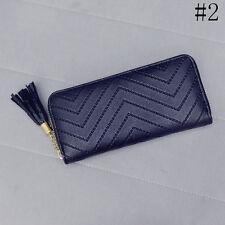 Women PU Leather Card Holder Case Long Wallet Clutch Checkbook Handbag Purse Bag