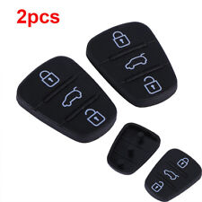 2PCS Remote Car 3 Buttons Key Fobs Case Rubber Pad Shell For Hyundai I10 I20 I30