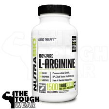 NUTRABIO - Arginine 750mg /150caps - Supports Protein Synthesis - 100% Pure