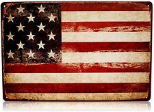 America Usa Flag Man Cave Decor Sign United States American Retro Metal Signs