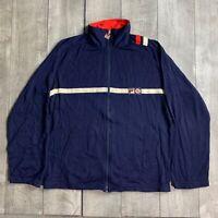 RARE Vintage FILA BJ Bjorn Tennis Italia Full Zip Track Jacket Mens Medium
