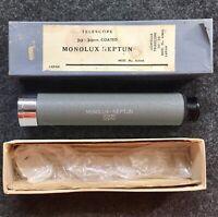Vintage Monolux Neptune Coated Telescope Model 4306 20X30mm + Original Box F