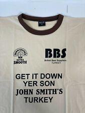2x NEW Bar Brewery Promo T-shirts: John Smiths & Carling size L/XL  A120