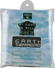Terry-Covered Bath Pillow Forest Green, Earth Therapeutics, 1 piece