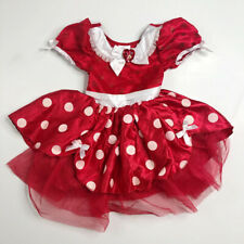 Disney Store Girls Minnie Mouse Dress Costume 3 Red Polka Dots