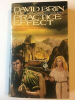 PRACTICE EFFECT David Brin Science Fiction 1st PB edition Bantam Free Shipping!