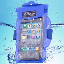 Bingo Waterproof Small Pouch PVC Dry Bag Underwater for Cell Phone blue wp06-02