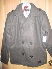 NEW Nixon MENS M Reagan Peacoat Winter Jacket Heather Grey Warm Wool Blend