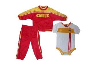 Reebok Kansas City Chiefs Infant 2 Piece Jogging Jacket/Romper (24M)