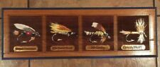 Hand Carved Fly Fish Painted Sign Brown Trout Royal Coachman McGinty Fathers Day