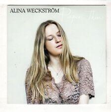 (HB224) Alina Weckstrom, Paper Thin - 2015 DJ CD