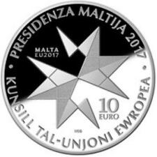 MALTA'S PRESIDENCY OF THE COUNCIL OF THE EUROPEAN UNION Silver Coin 2017 New