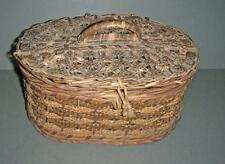Old Huntley and Palmer Biscuit Tin In Original Wicker Basket / Hamper.
