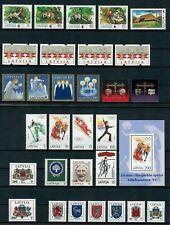 SLA16 Latvia 1994 Complete Year Set (30 stamps+1 MS+1 booklet), MNH (2 scans)