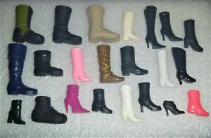 "Barbie Shoes -  22 Single Boots(NO PAIRS) Mostly Barbie Some Ken ""No Japan"""