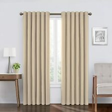 ECLIPSE Bradley Thermal Insulated Single Panel Rod Pocket Darkening Curtains, 50